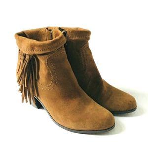 Sam Edelman Louie Side Fringe Cowboy Ankle Boots